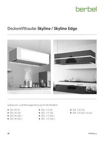 Gebrauchs- und Montageanleitung Deckenlifthaube Skyline/Skyline Edge/Skyline Edge Individual/Skyline Edge Light/Skyline Edge Sound