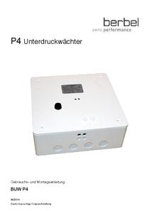 Gebrauchs- und Montageanleitung Unterdruckwächter BUW P4