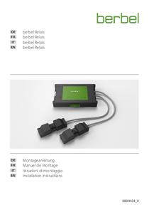 Gebrauchs- und Montageanleitung berbel ConnectionBox Relais