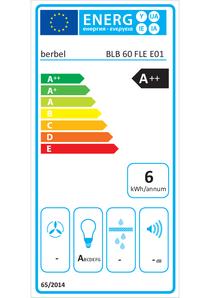 Energielabel berbel Lüfterbaustein Firstline BLB 60 FLE