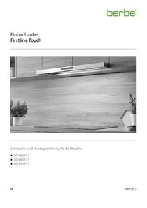 Gebrauchs- und Montageanleitung Einbauhaube Firstline Touch BEH FLT