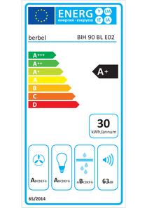 Energielabel berbel Inselhaube Blockline BIH 90 BL