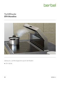Gebrauchs- und Montageanleitung Tischlifthaube BTH Moveline