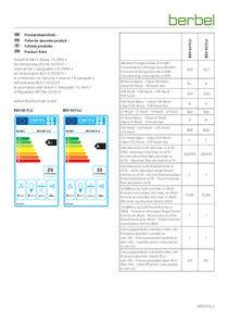 Produktdatenblatt berbel Einbauhaube Firstline Unseen BEH 60/90 FLU