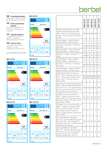 Produktdatenblatt berbel Kopffreihaube Formline BKH 60/70/80/90/120 FO