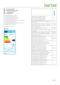 Produktdatenblatt berbel Wandhaube Smartline BWH 90 ST