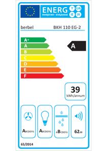Energielabel berbel Kopffreihaube Ergoline 2 BKH 110 EG-2