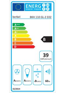 Energielabel berbel Kopffreihaube Glassline BKH 110 GL-2
