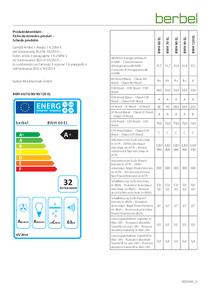 Produktdatenblatt berbel Wandhaube Emotionline BWH 60/70/80/90/120 EL