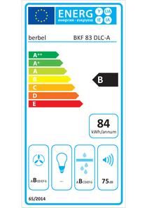 Energielabel berbel Kochfeldabzug BKF 83 DLC