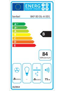 Energielabel berbel Kochfeldabzug BKF 83 DL