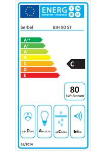 Energielabel berbel Inselhaube Smartline BIH 90 ST