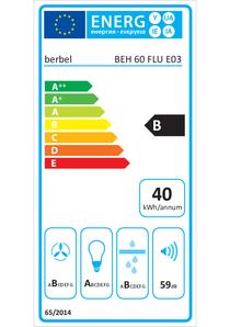 Energielabel berbel Einbauhaube Firstline Unseen BEH 60 FLU