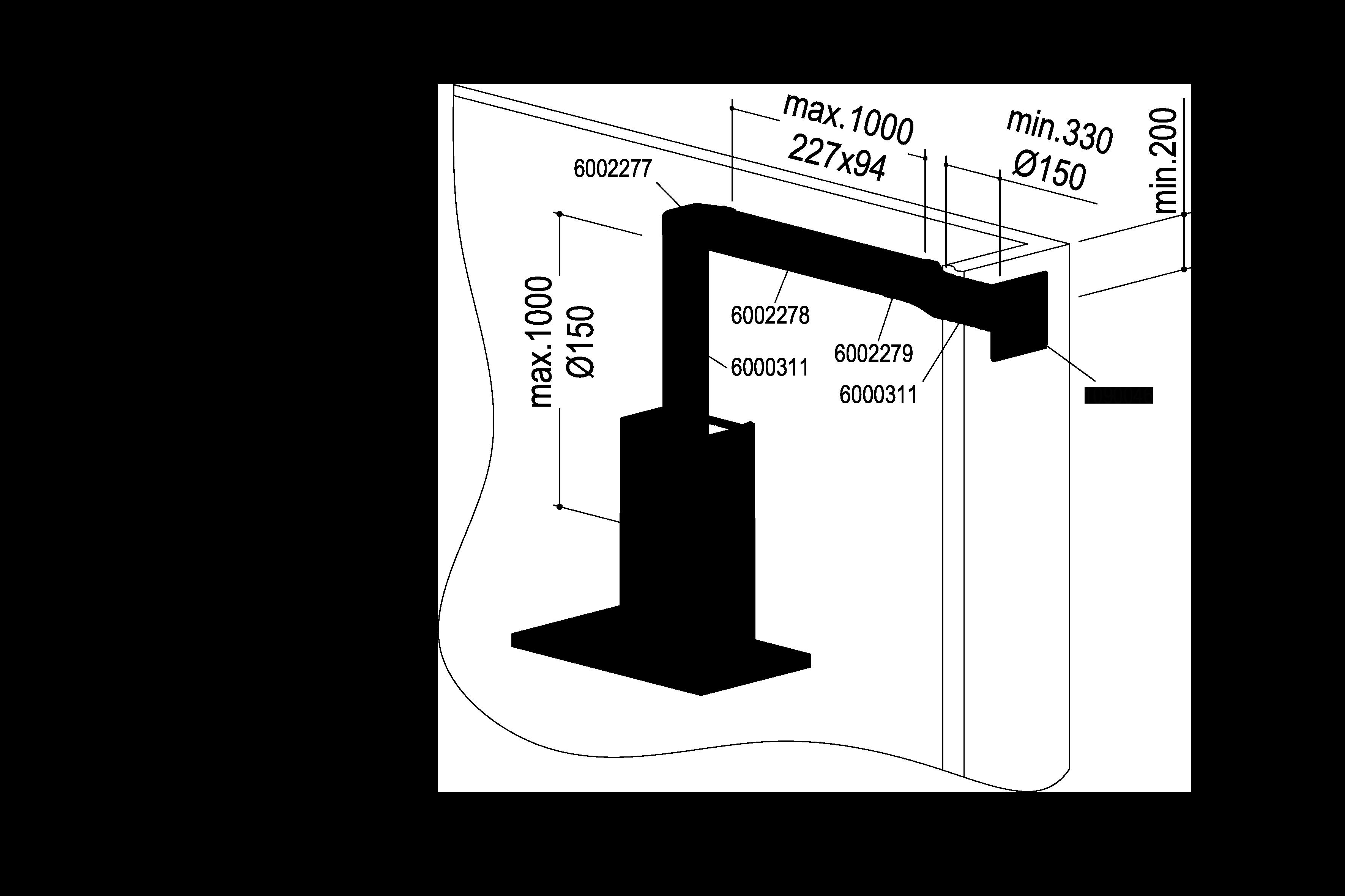 Abluft-Set II – <strong>Flach 150 bT</strong>