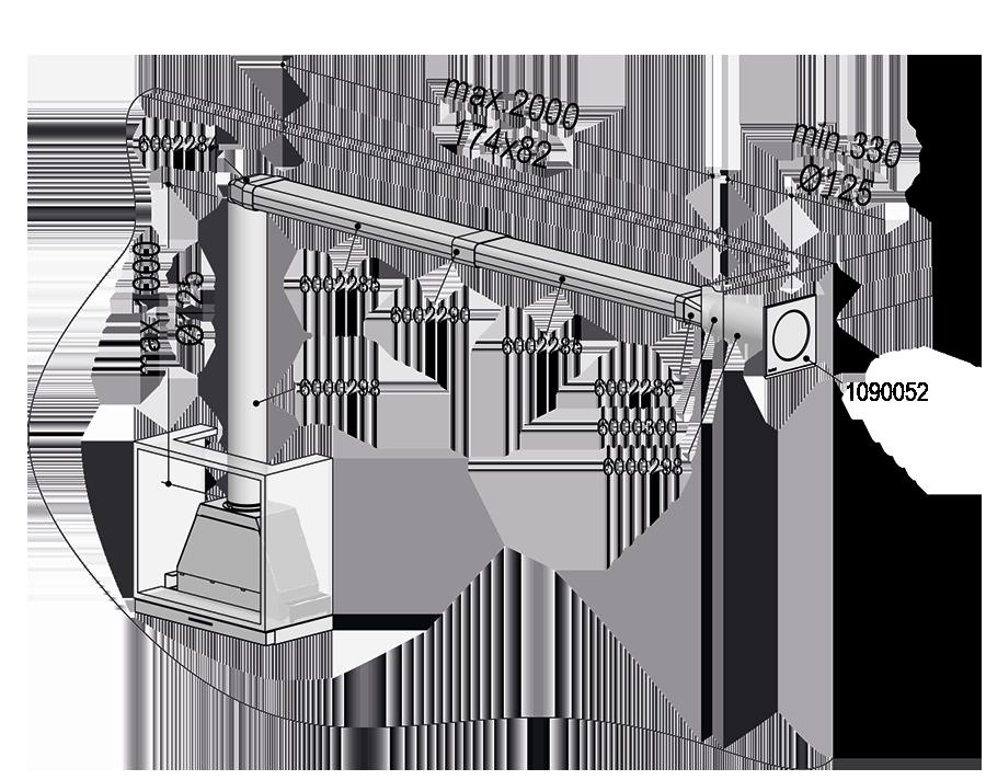 Abluft-Set III – <strong>Flach 125 bT doppelt</strong>