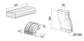 Abluft-Set DL (inkl. S-Rohr)