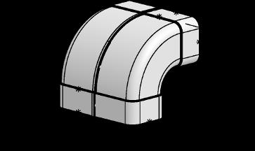 System 125 – <strong>90°-Bogen senkrecht</strong>