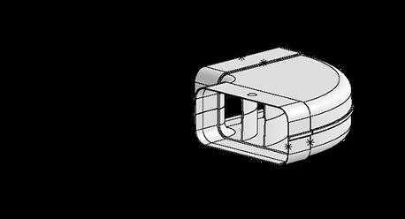 System 125 – <strong>90°-Bogen waagerecht</strong>